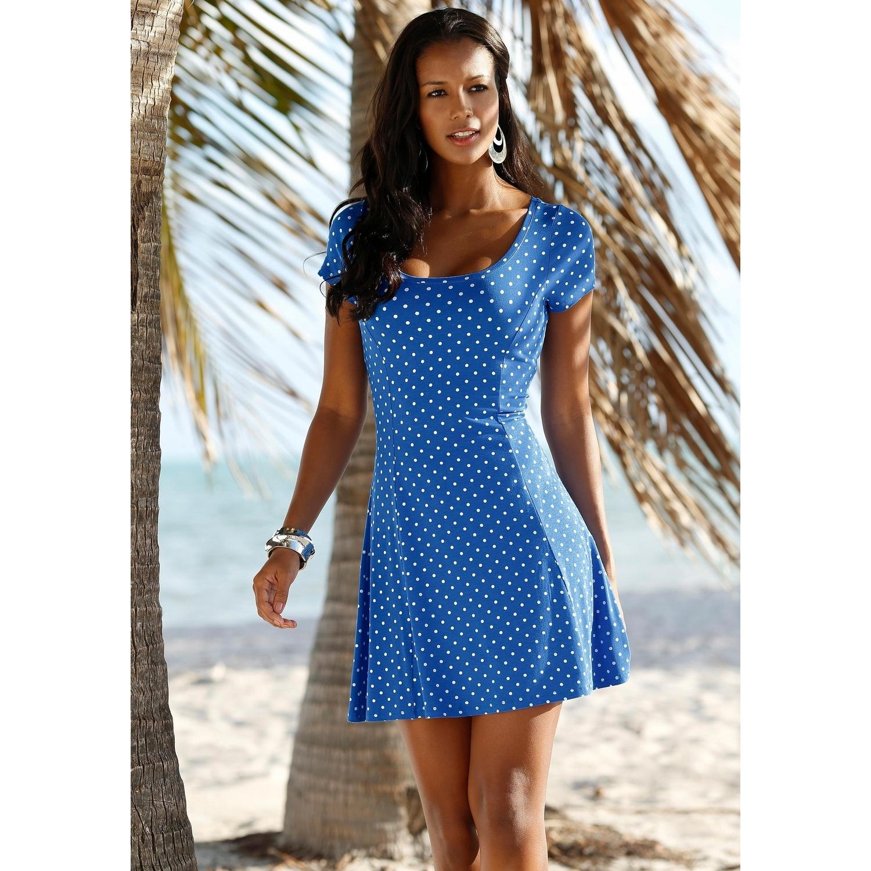 ee885ebb3d8acd Beachtime Strandkleid von BEACHTIME. mehr. Farbe: royalblau-weiß-gepunktet