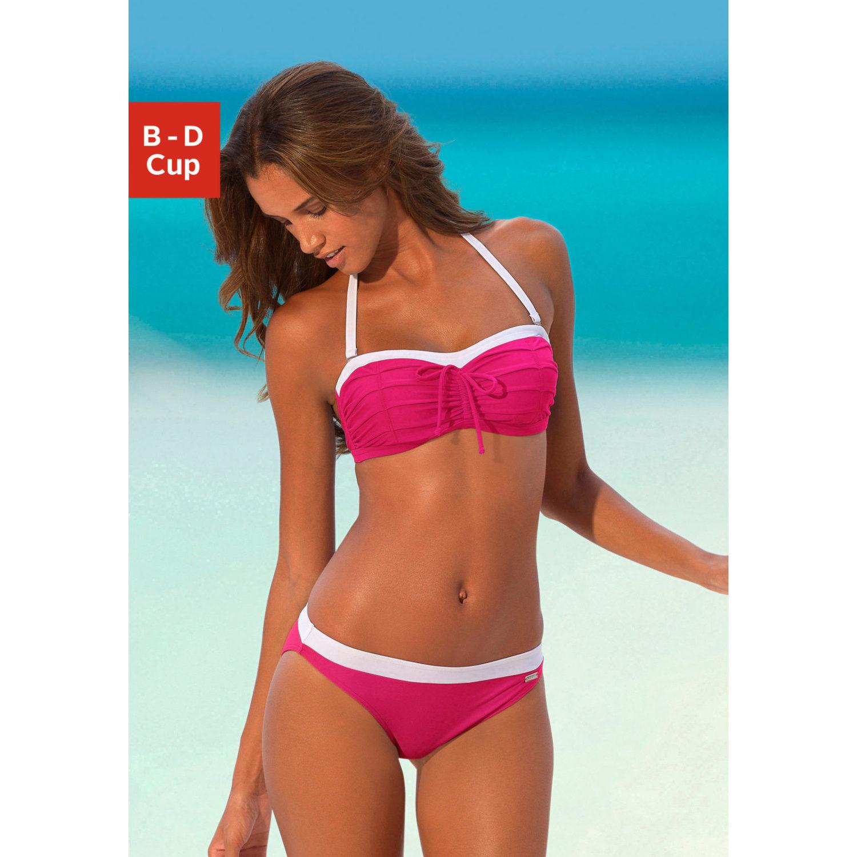 b gel bandeau bikini pink von lascana lascana. Black Bedroom Furniture Sets. Home Design Ideas