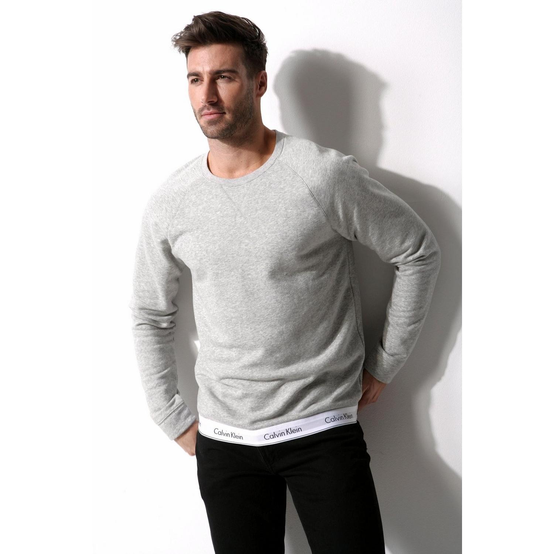 herren sweatshirt grau meliert von calvin klein lascana. Black Bedroom Furniture Sets. Home Design Ideas