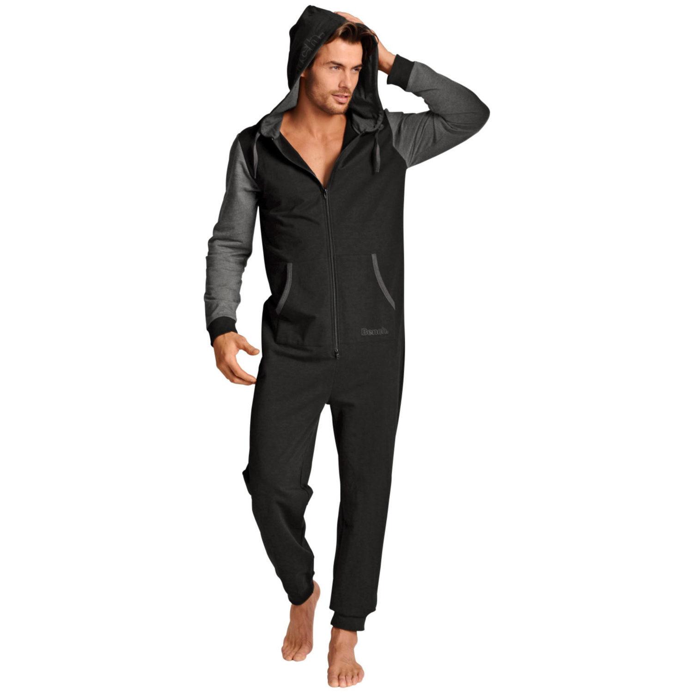 jumpsuit 1x schwarz grau von bench lascana. Black Bedroom Furniture Sets. Home Design Ideas