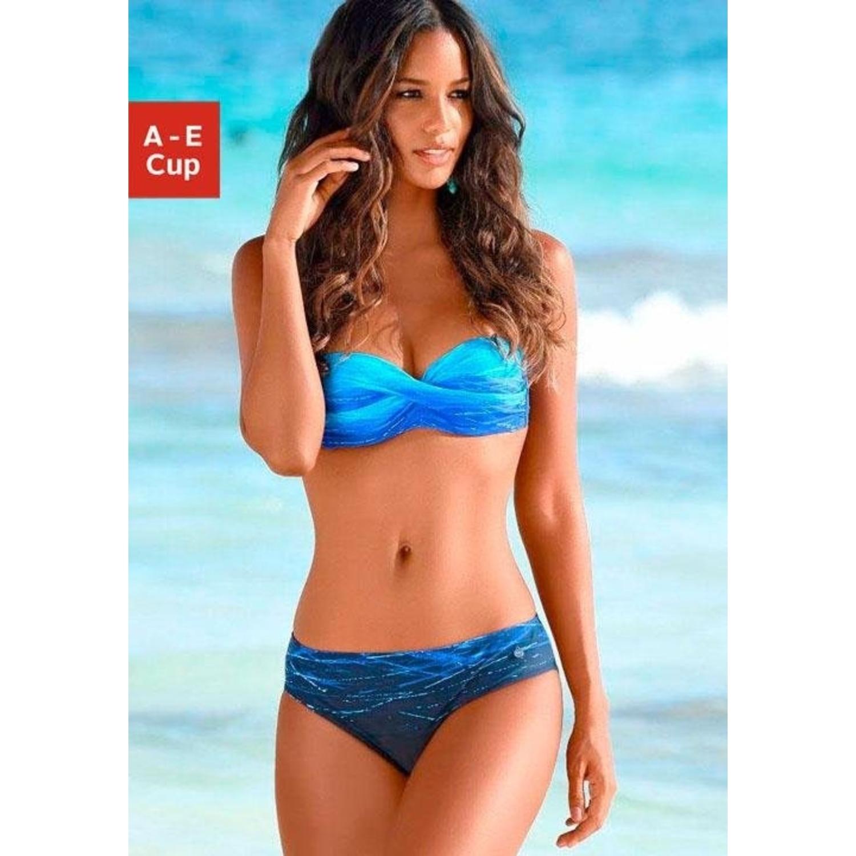 verschiedene Stile offizielle Bilder heißer verkauf authentisch Bügel-Bandeau-Bikini - blau-bedruckt von LASCANA - LASCANA