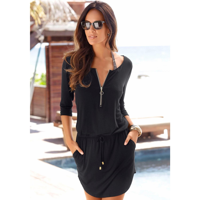 Strandkleid - schwarz von LASCANA - LASCANA