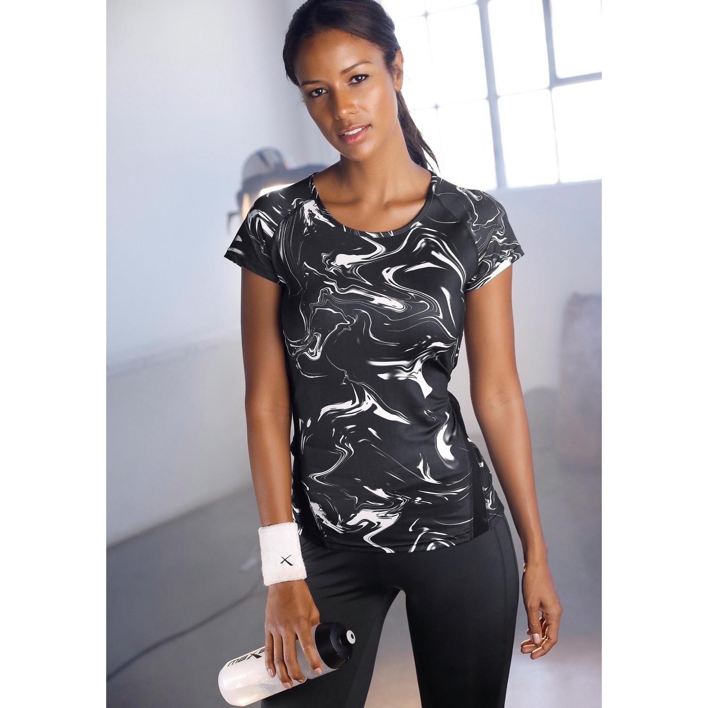 Durchsuchen Sie die neuesten Kollektionen bester Wert noch eine Chance T-Shirt - schwarz-marmoriert von ACTIVE BY LASCANA - LASCANA