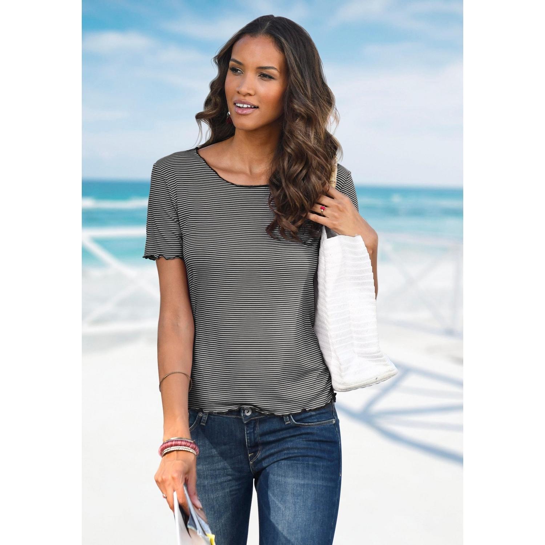 neues Hoch gut aussehen Schuhe verkaufen aktuelles Styling T-Shirt - schwarz gestreift von LASCANA - LASCANA
