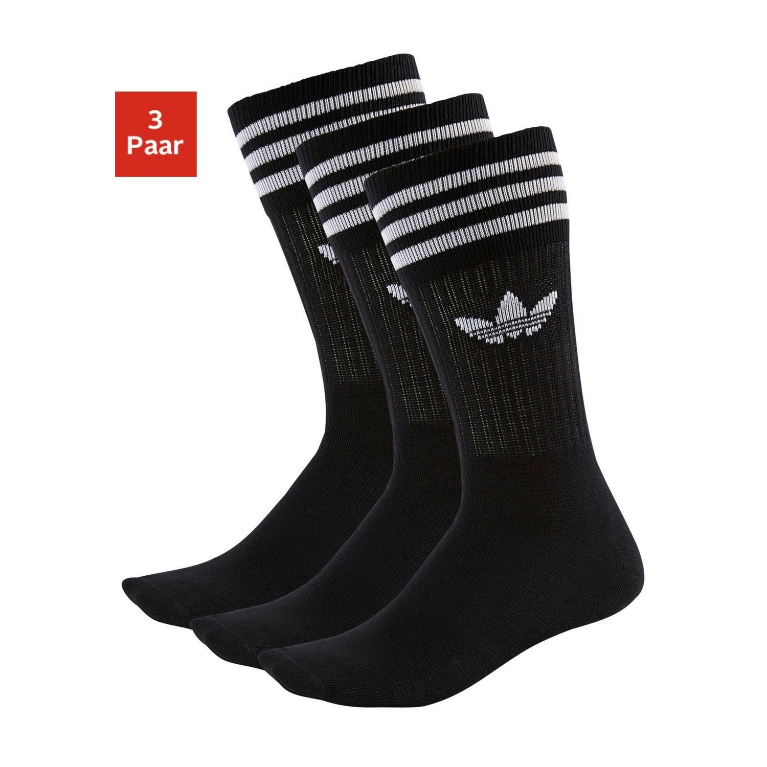packung tennissocken 3x schwarz von adidas lascana. Black Bedroom Furniture Sets. Home Design Ideas