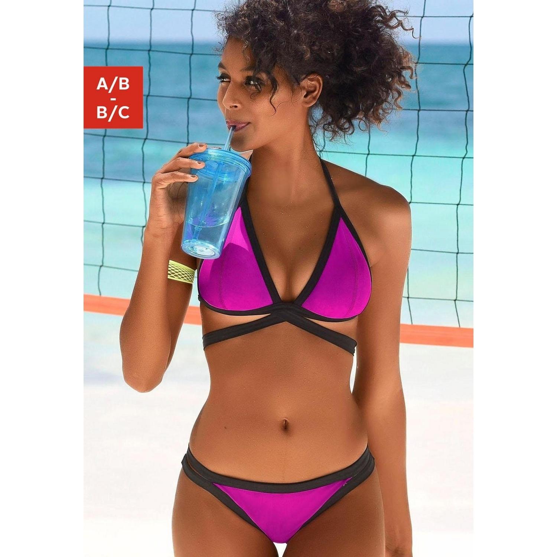 fd3e5cf363abb Triangel-Bikini - pink-schwarz von Bench. - LASCANA