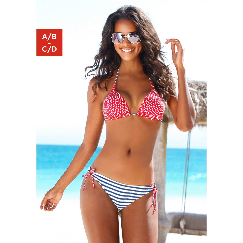 7d51a1f6501c6 Triangel-Bikini - marine-rot von s.Oliver RED LABEL - LASCANA