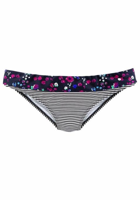 s.Oliver RED LABEL Beachwear Bikini-Hose »Leni« schwarz-weiß gestreift 36