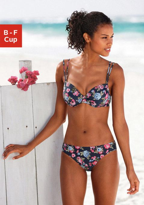 s.Oliver RED LABEL Bügel-Bikini marine bedruckt 44C Preisvergleich
