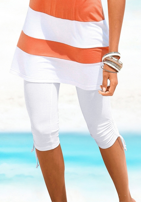 Beachtime Capri-Leggings weiß 48 Preisvergleich