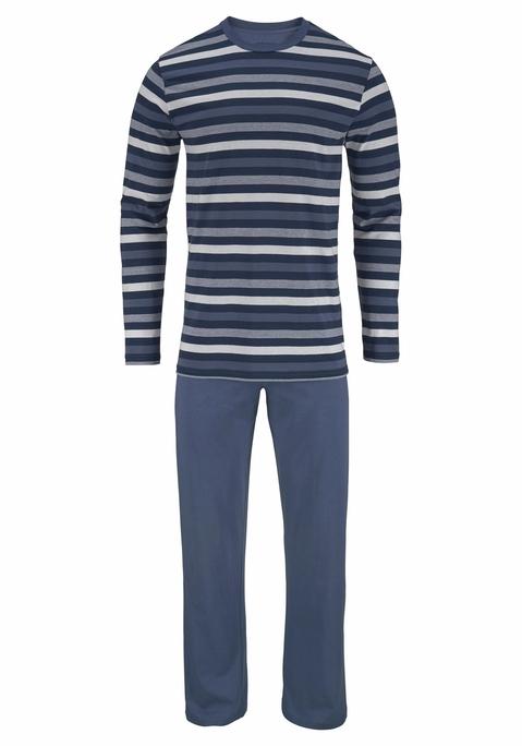 seidensticker Pyjama blau gestreift 52 Preisvergleich