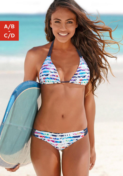 sunseeker Triangel-Bikini weiß-marine 32A
