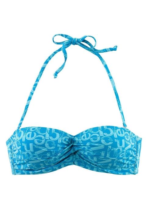 venice beach -  Bandeau-Top Damen blau-bedruckt Gr.34