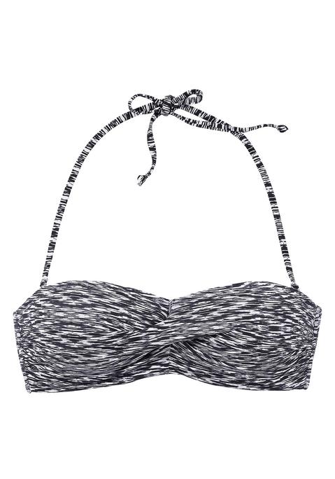 venice beach -  Bandeau-Top  schwarz-weiß Gr.42