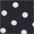 schwarz-weiß-gepunktet