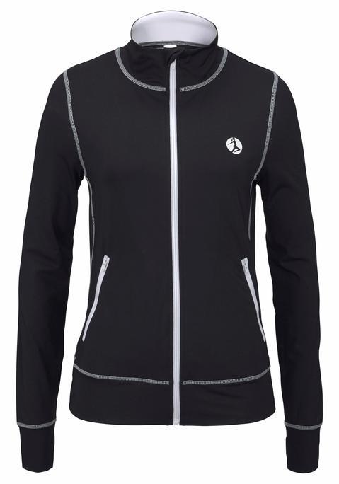 - Trainingsjacke Damen schwarz-weiß Gr.36/38