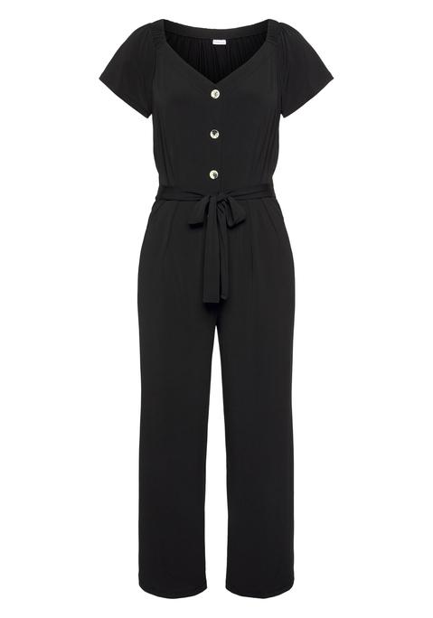 lascana -  Culotte-Overall Damen schwarz Gr.44