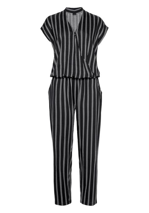 lascana -  Overall Damen schwarz-weiß-gestreift Gr.36