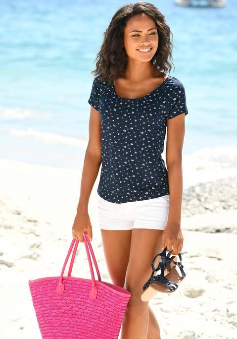 lascana -  Strandtasche Damen pink Gr.