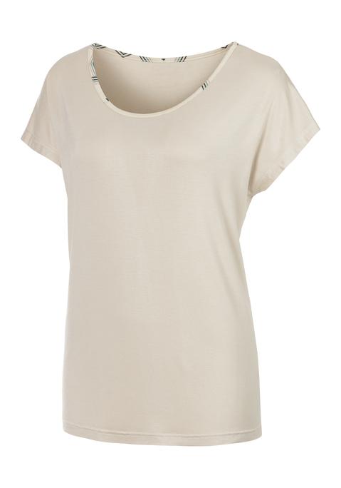 lascana -  Damen T-Shirt nougat Gr.44/46