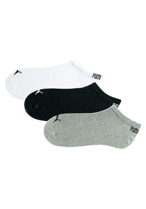 PUMA Herren Sneakersocken weiß+grau-meliert+schwarz Gr.35-38