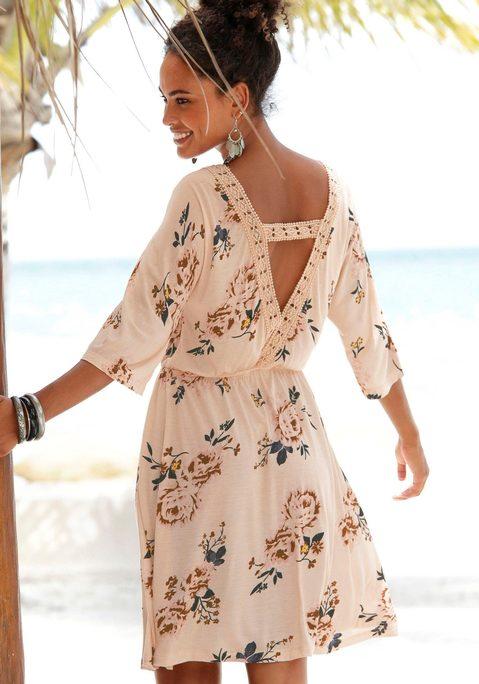 - Jerseykleid Damen puder-bedruckt Gr.46