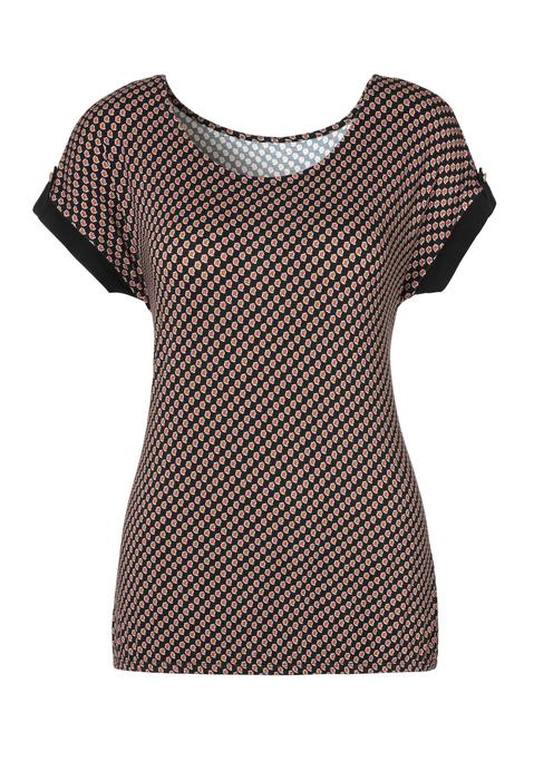 vivance -  Damen T-Shirt schwarz Gr.48/50
