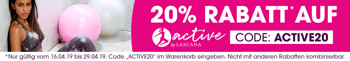 -20% auf actibe by LASCANA